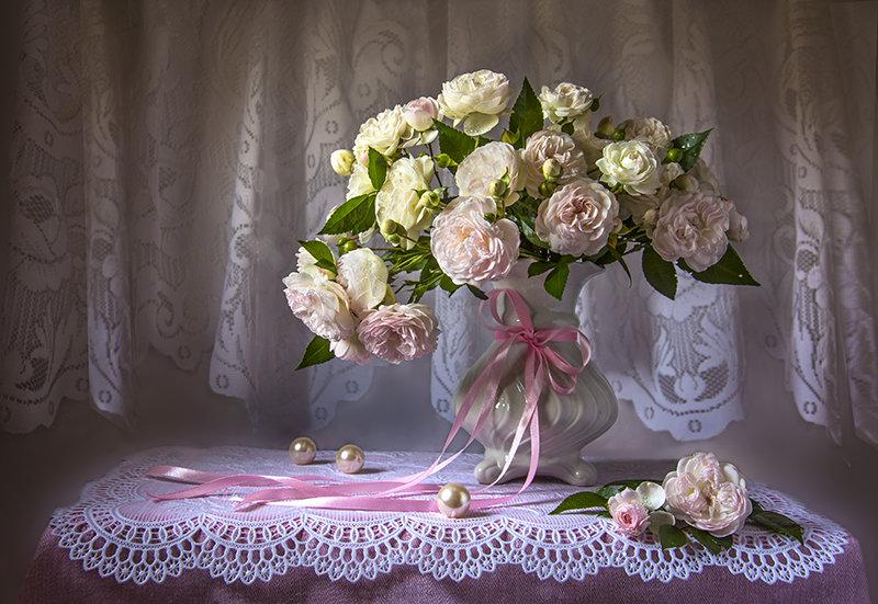 Розовый букет. - Людмила Костюченко
