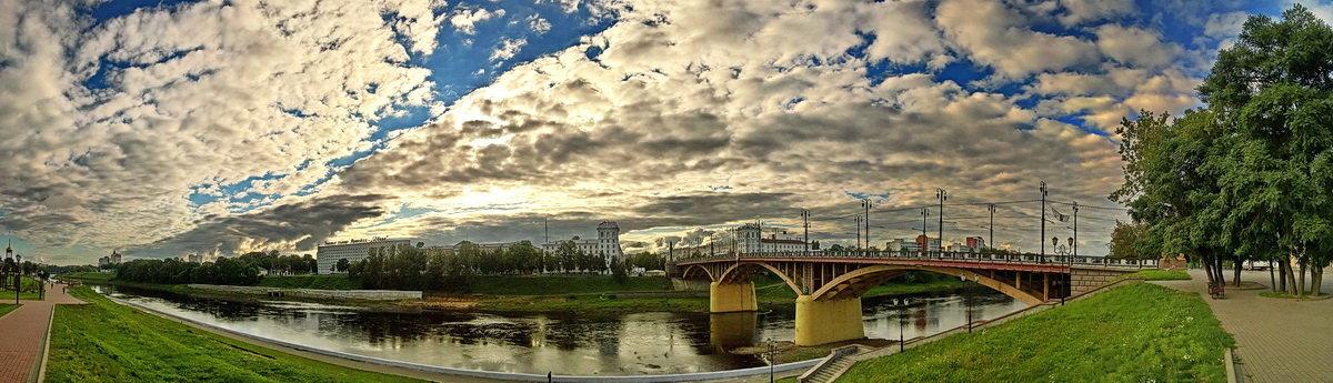 Река Западная Двина и Кировский мост в Витебске. - Сергей *Витебск*