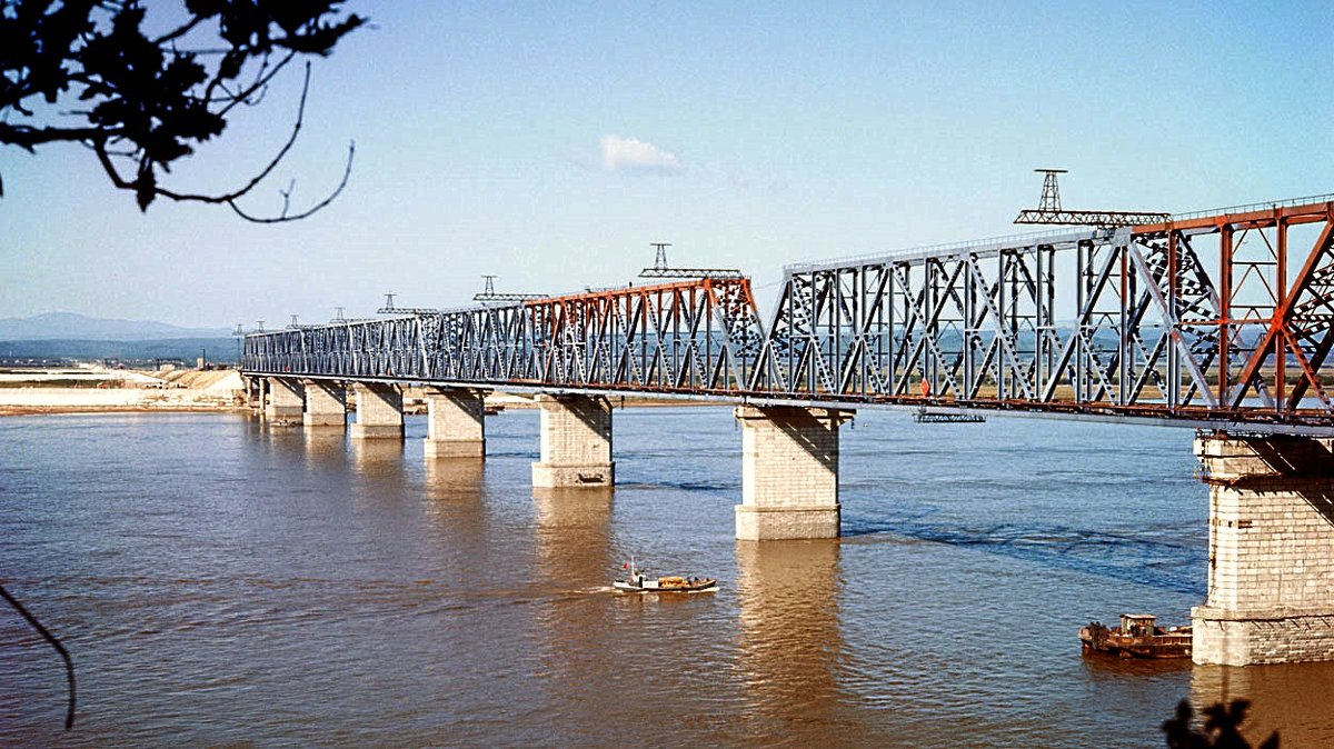 Железнодорожный мост через Амур у Комсомольска. 1975 год. - юрий