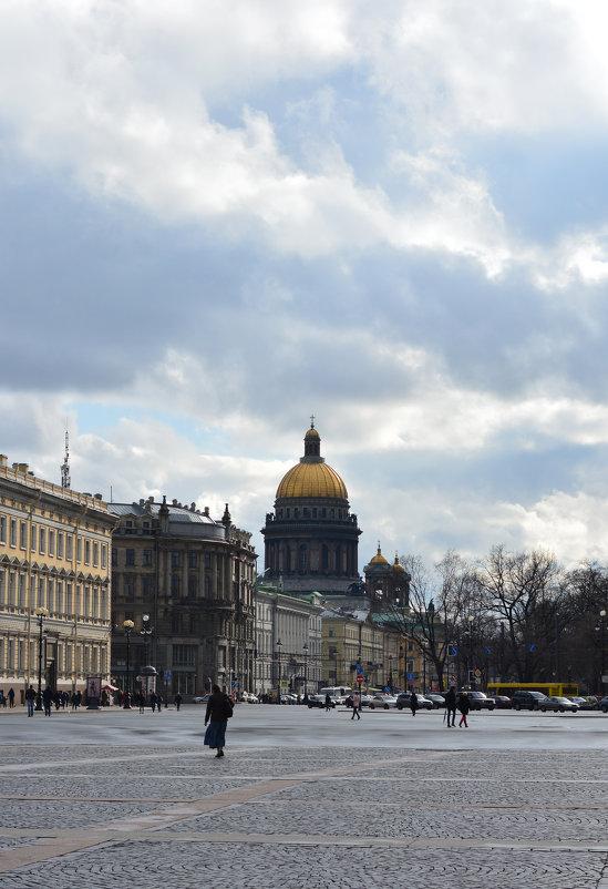 Вид на Исаакиевский собор с дворцовой площади - Екатерина Марфута