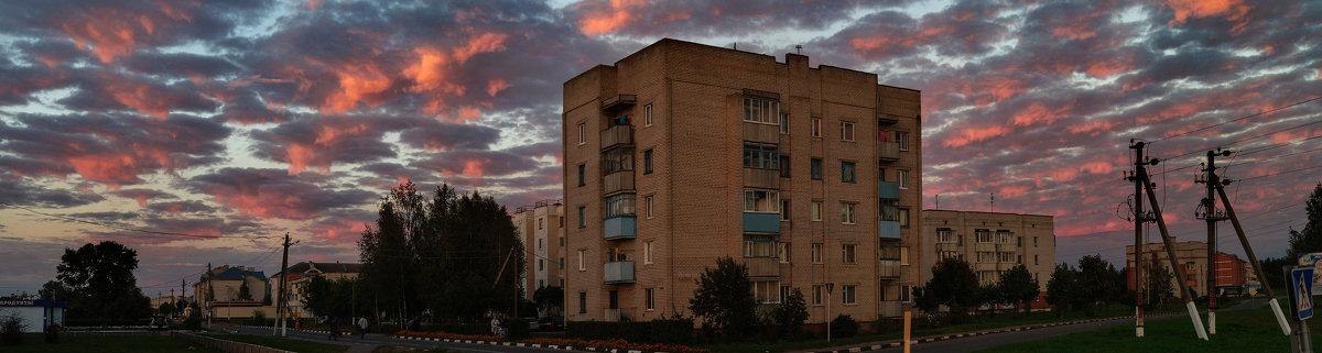 Вечерняя панорама Шумилино-01 - Анатолий Клепешнёв