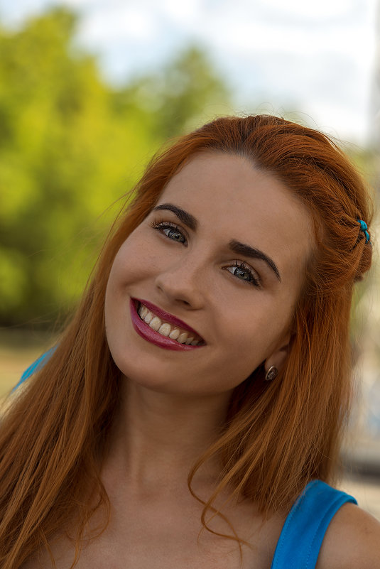 Девушка в синем - Оксана Лада