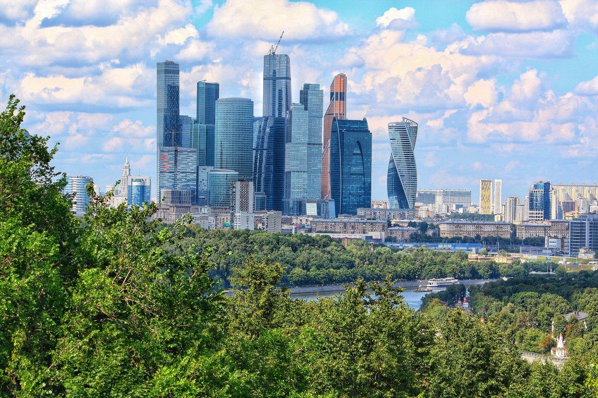 Москва Сити со смотровой площадки на Воробьёвых горах - Ирина ...