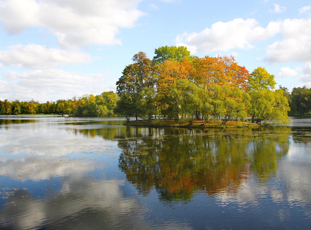 Осенней позднею порою люблю я царскосельский сад....... - Tatiana Markova