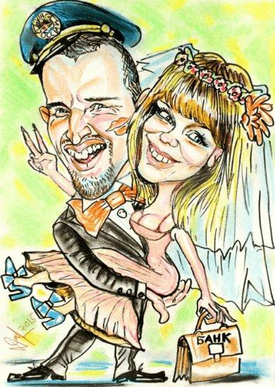 Шарж на свадьбу - Павел