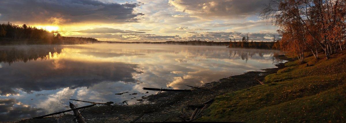 Рассвет на озере. Якутия. - Ирина Токарева