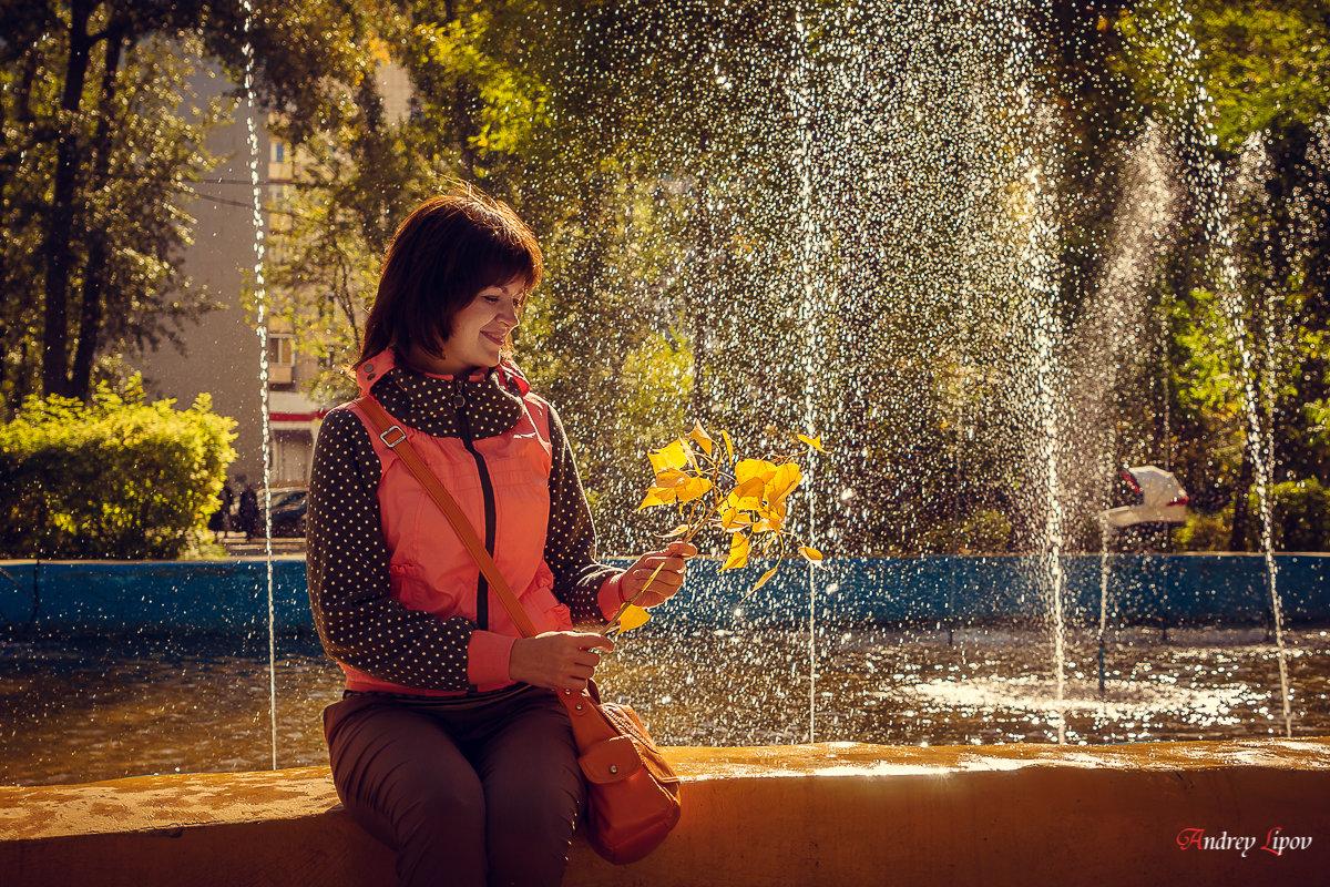 Девушка в осеннем парке - Андрей Липов
