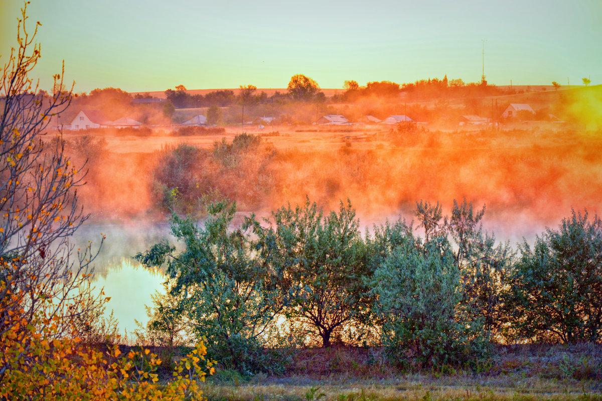 Туман над озером. - Юрий Фёдоров