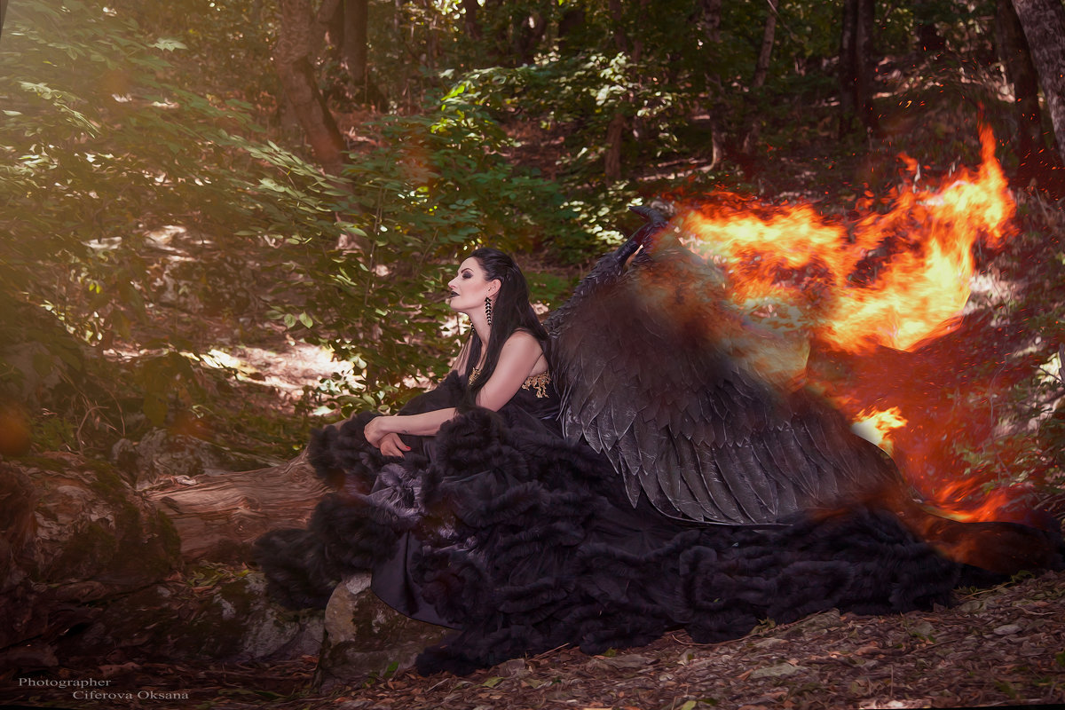 девушка огонь - Оксана Циферова
