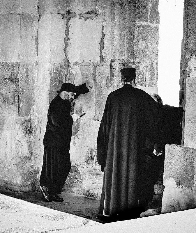 In the monastery. - Илья В.