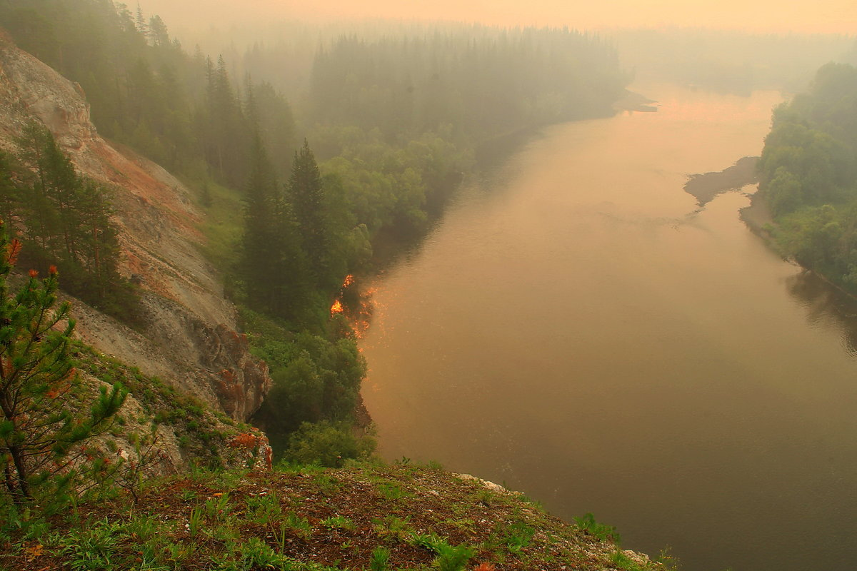 задыхаемся от дыма лесных пожаров... - Александр