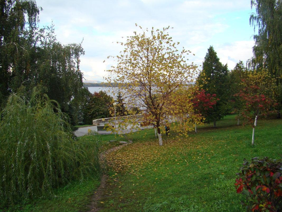 Осень на набережной Волги - марина ковшова