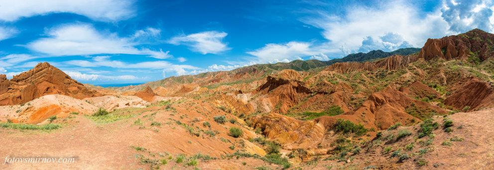 """Панорама каньона """"Сказка"""", Кыргызстан. - Валерий Смирнов"""