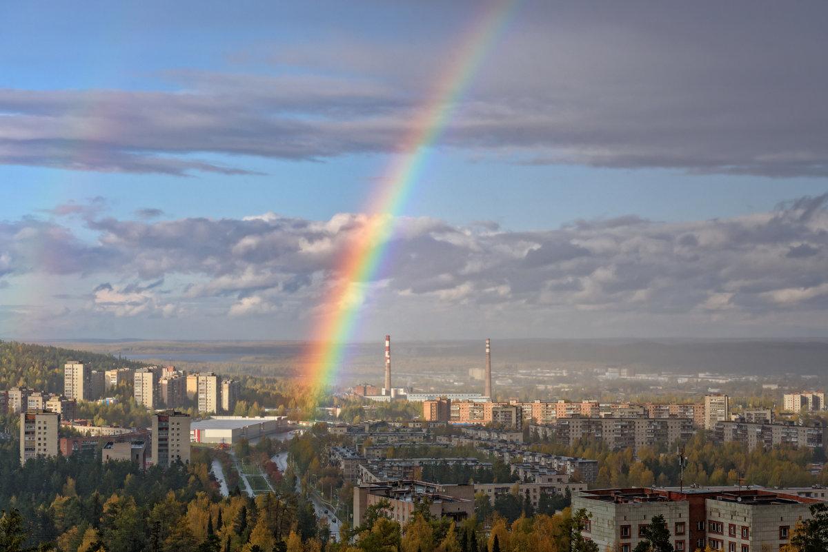 Капельки дождя распались на разноцветные лучики - Вячеслав Овчинников