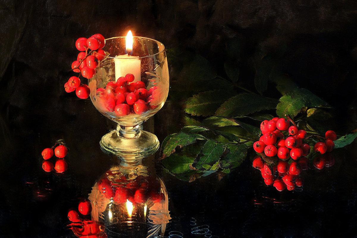 Этюд...Пламенеет рябина, догорает свеча...... - Павлова Татьяна Павлова