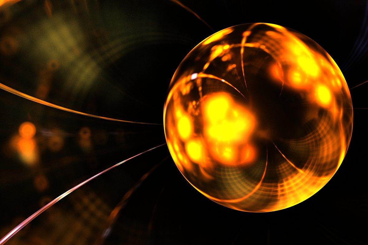 Фрактальное изображение золотого шара - valery60
