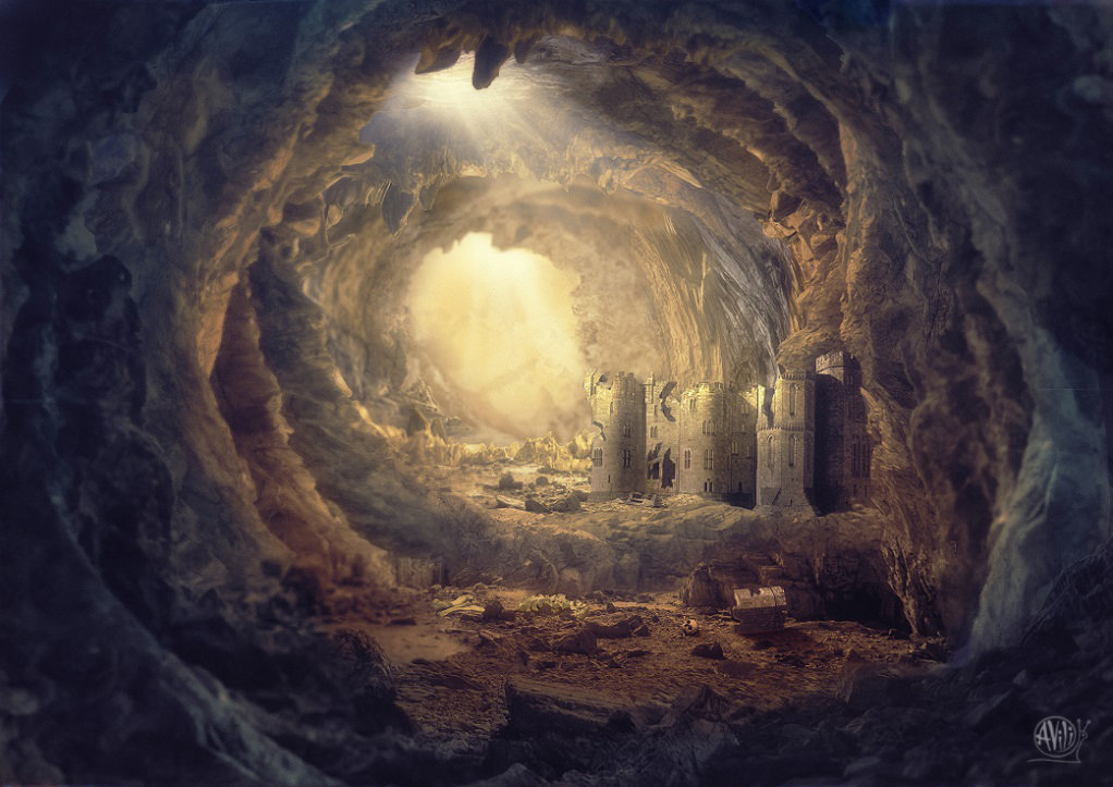 Пещера с крепость. А. Пехов. Храд Спайн. - Анжелика