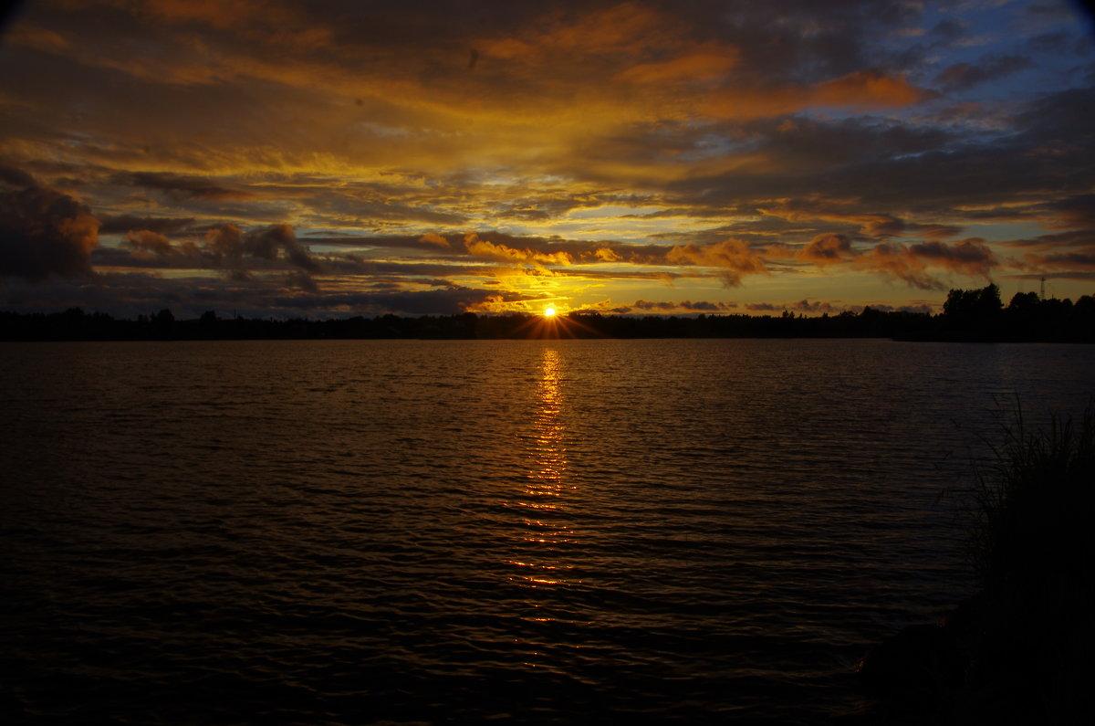 Закат на Свирском озере. - Ирина Нафаня