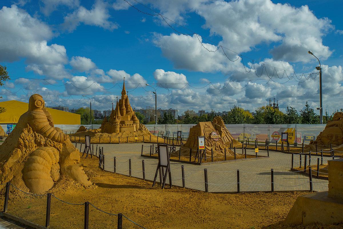 Выставка скульптур из песка - Игорь Герман
