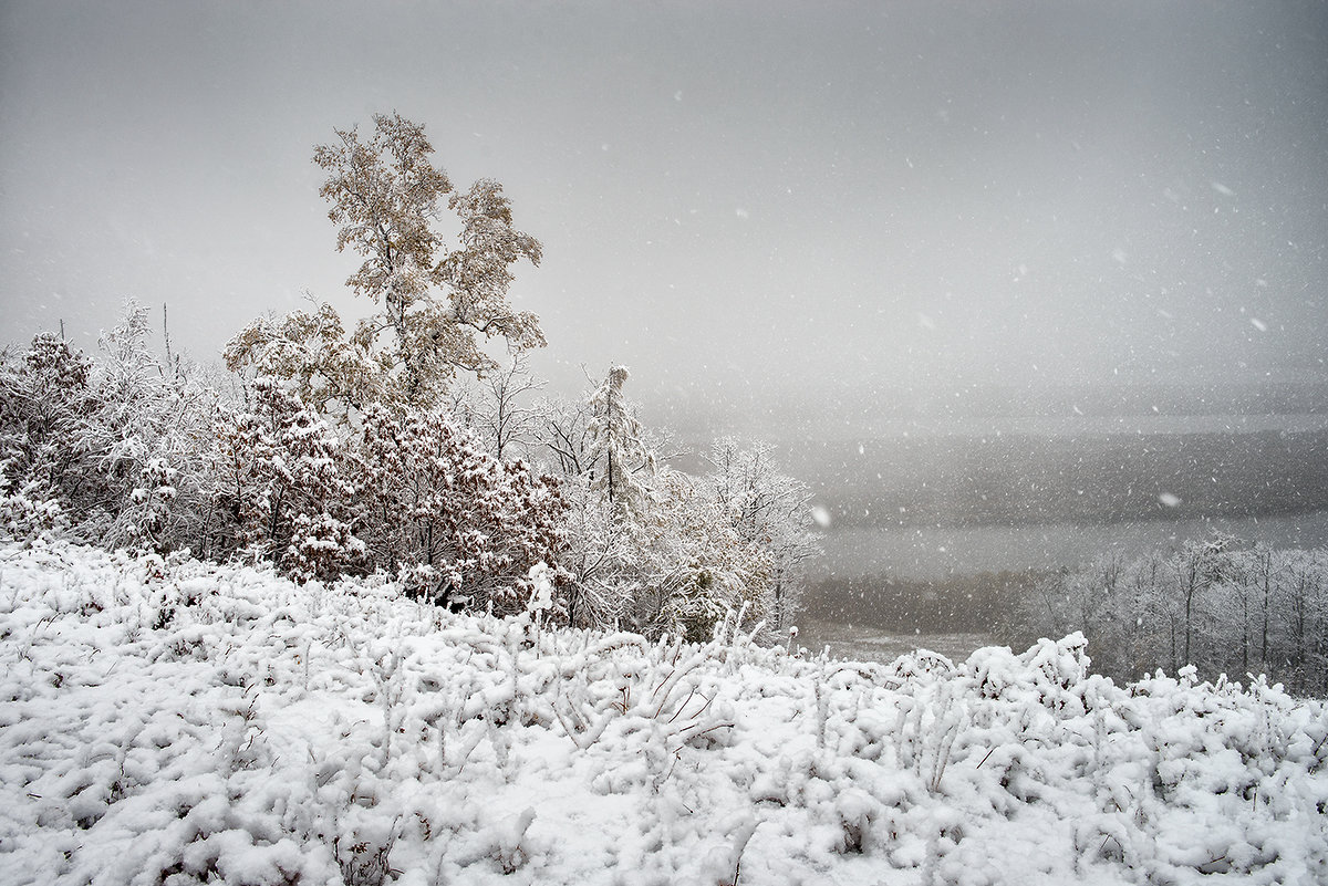 Снегопад. - Поток