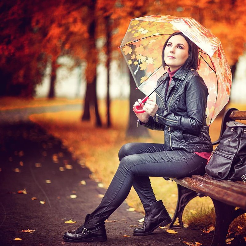 Осень, Аня в парке. - Alex Lipchansky