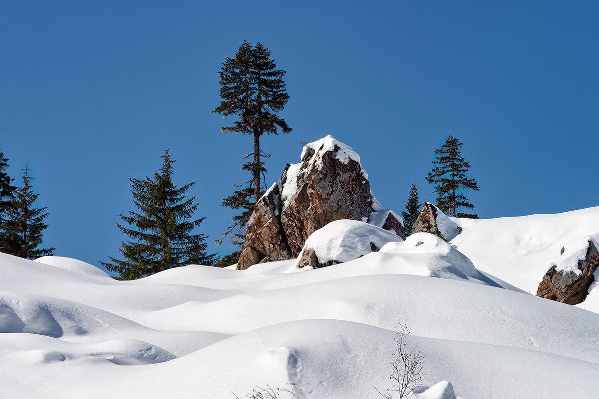 Зима в горах. - Поток