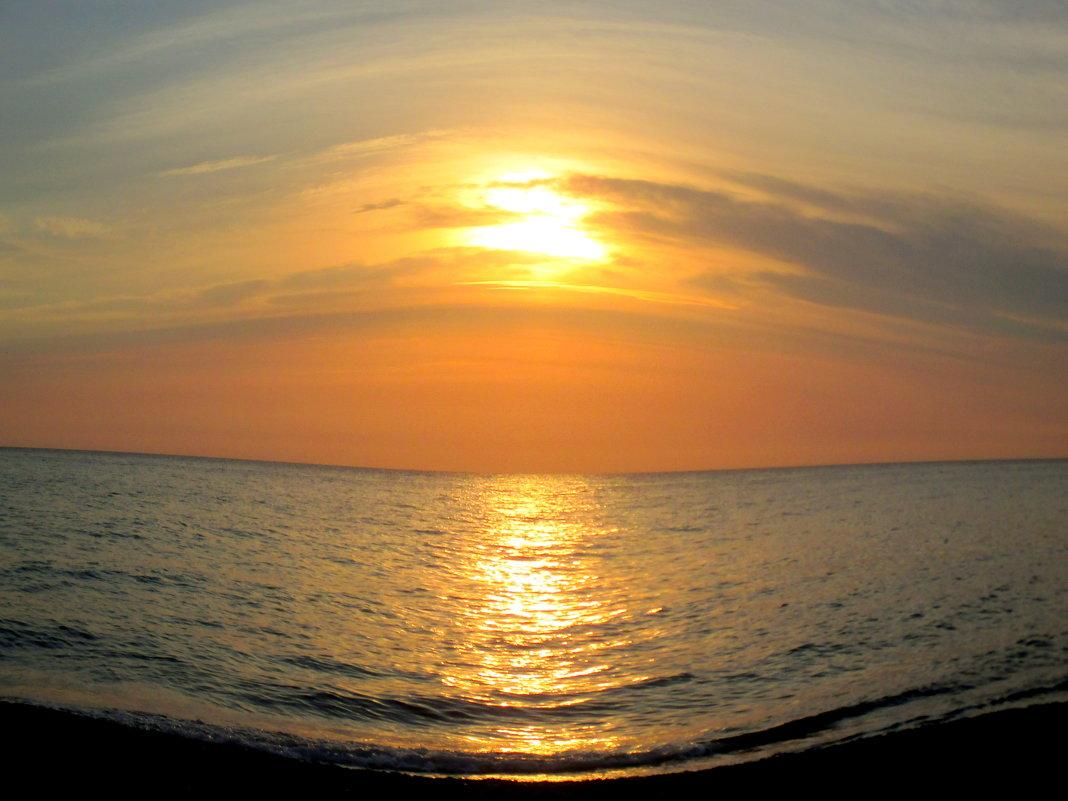 """Адлер. Закат над морем (в режиме """"рыбий глаз"""") - Нина Бутко"""