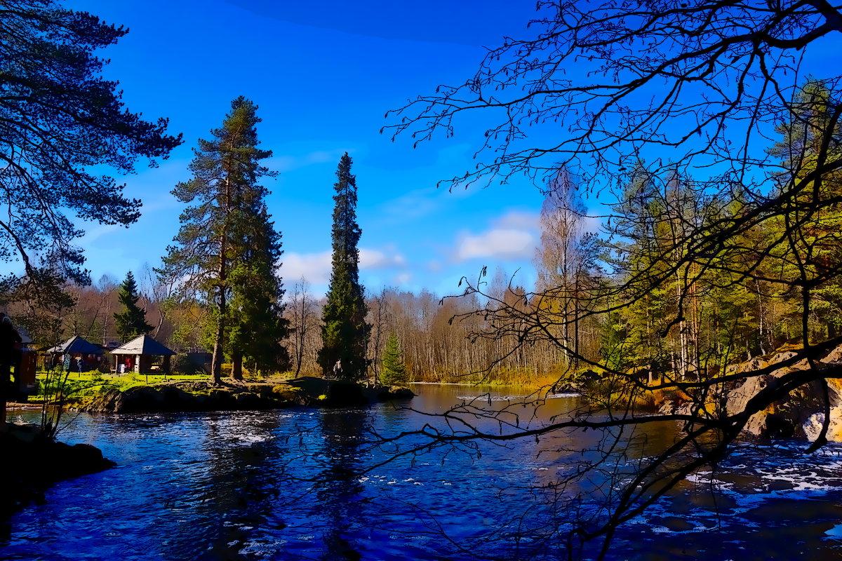 Водопад    в Рускеала - Ольга Cоломатина