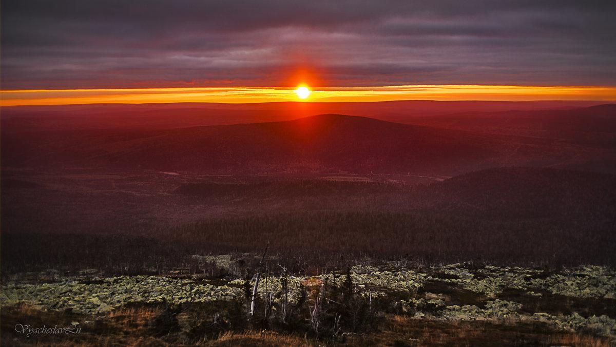 Закат на горе Ослянка. - Вячеслав Ложкин
