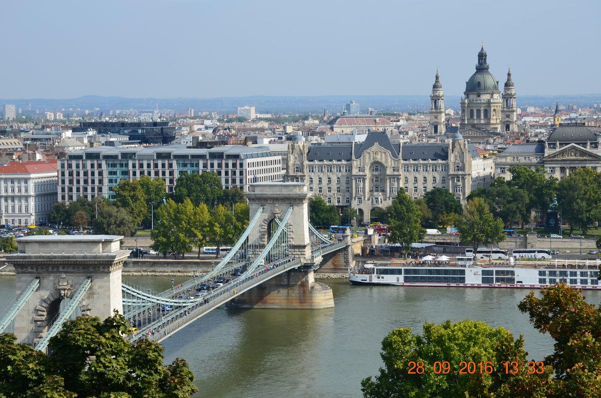 мост Сечень через реку Дунай . Будапешт.Венгрия - Anton Сараев