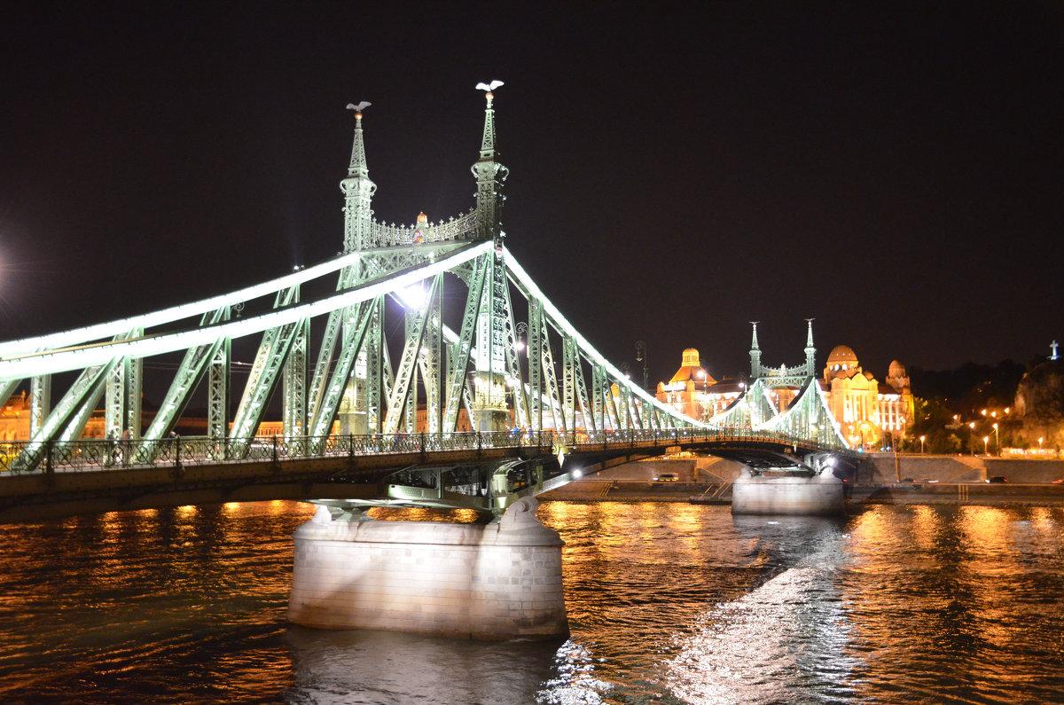 Вечером мост Сечень. Будапешт.Венгрия - Anton Сараев