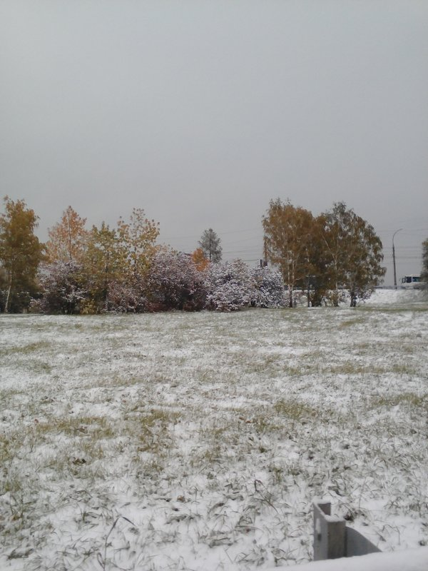 Первый снег в Иркутске. - Андрей