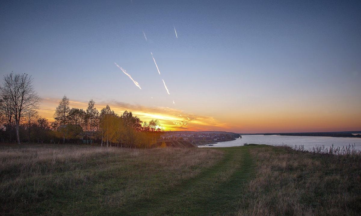 Закат на реке в октябре - Владимир Макаров