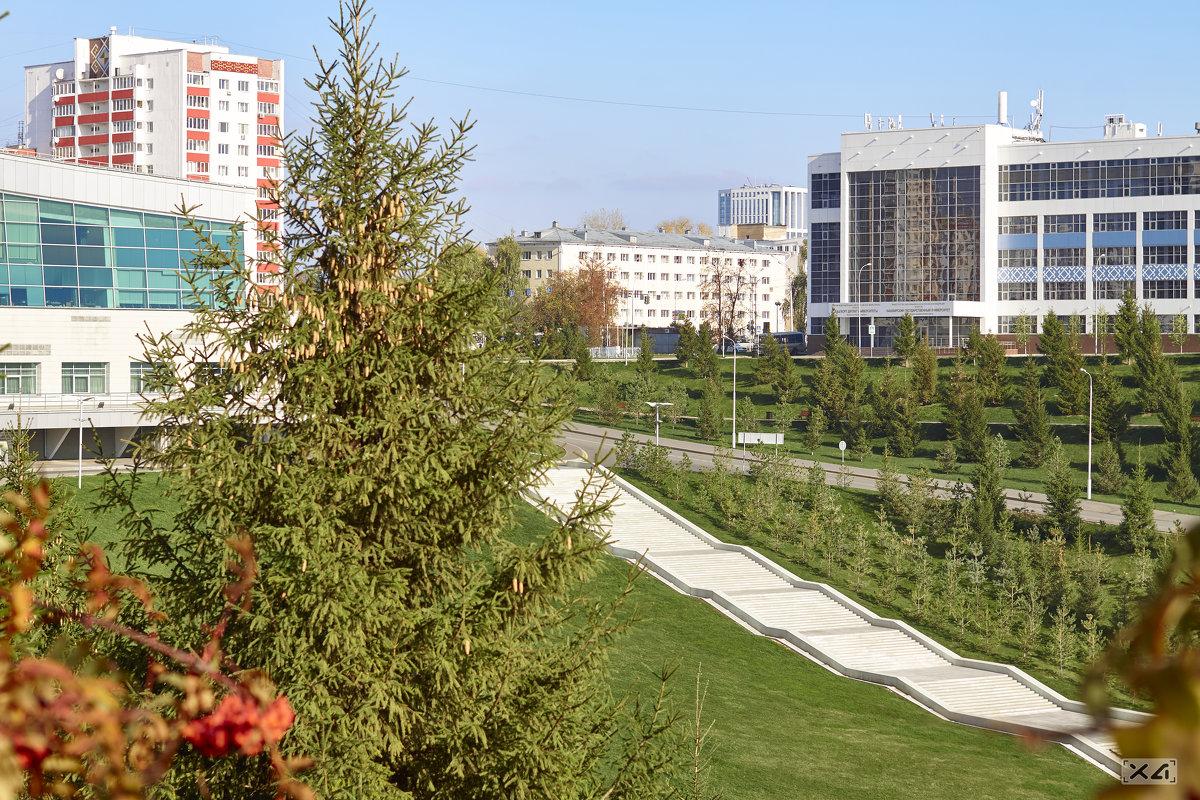 Лестница возле Башкирского Государственного Университета - trsteep