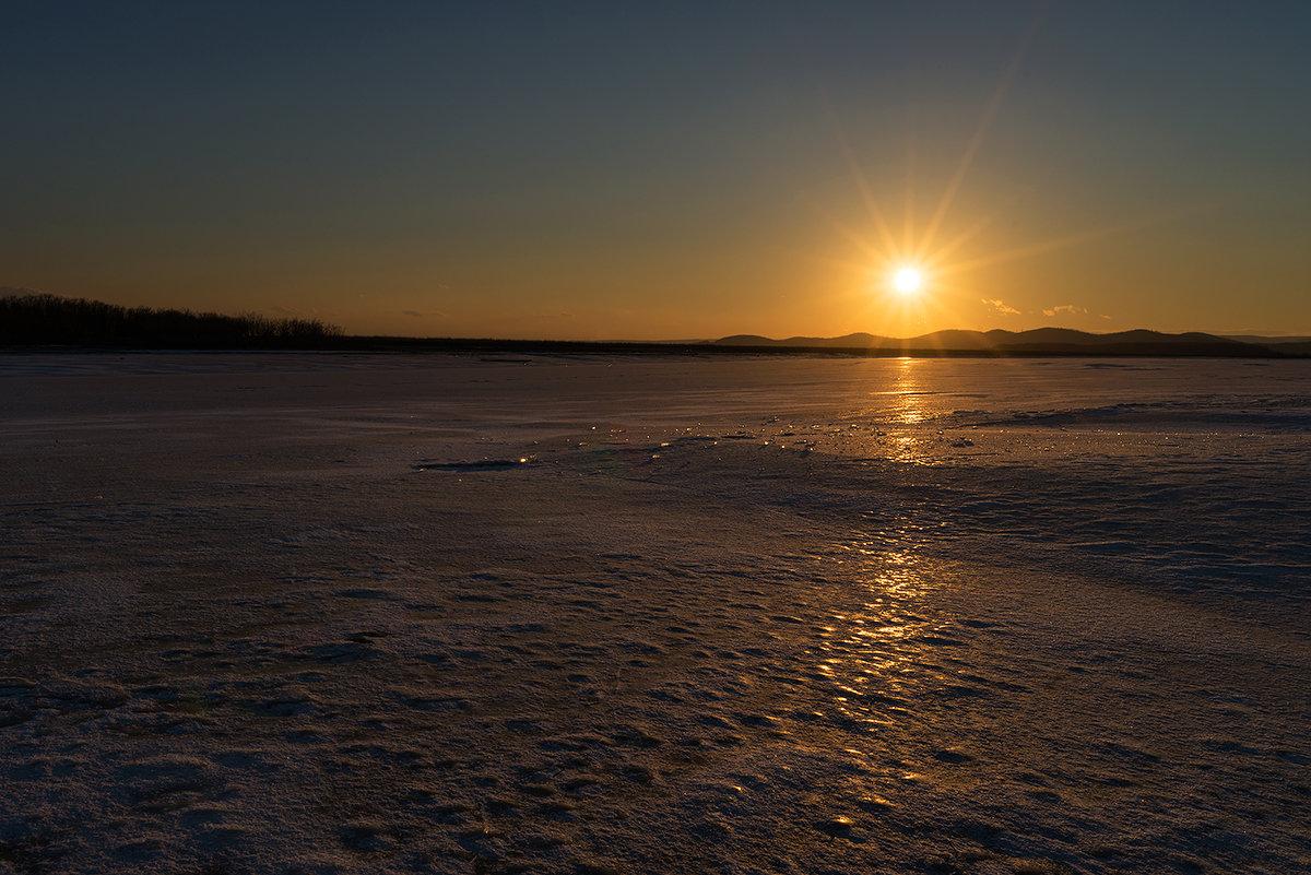 Закат на озере Мылки. - Поток