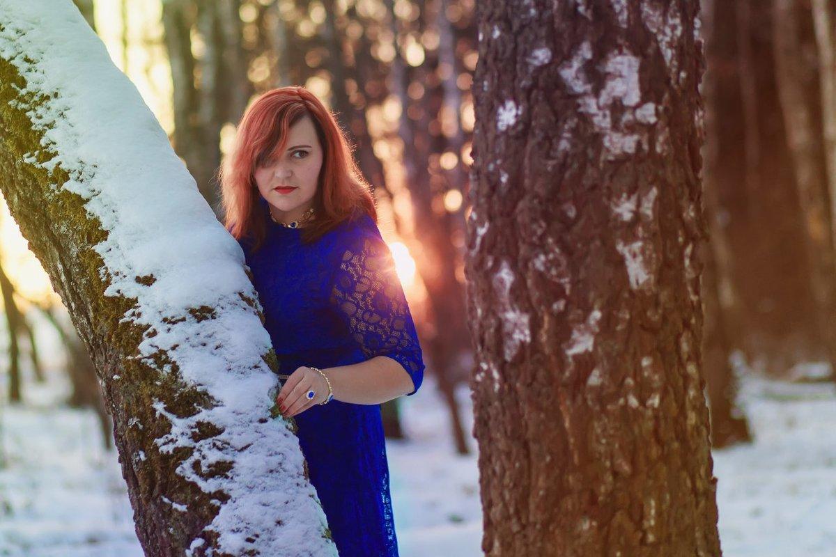 Зимний закат в лесу - Яна Минская