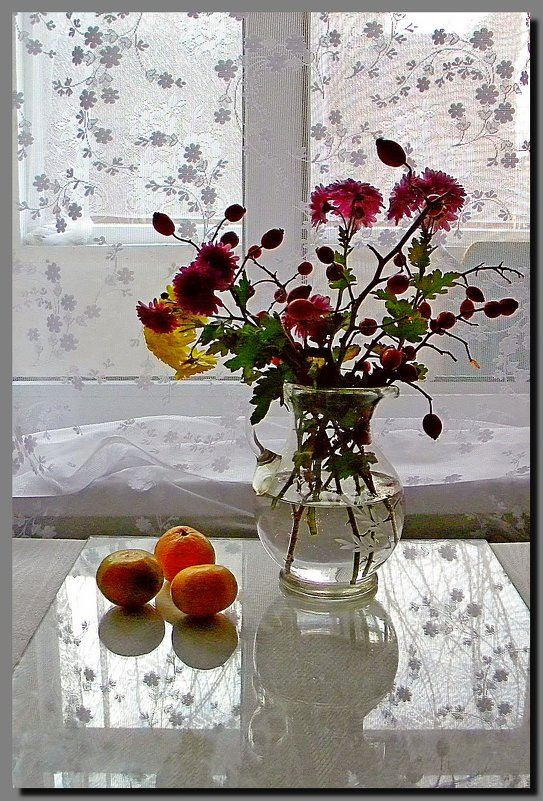 осень.  мандарины. - Ivana