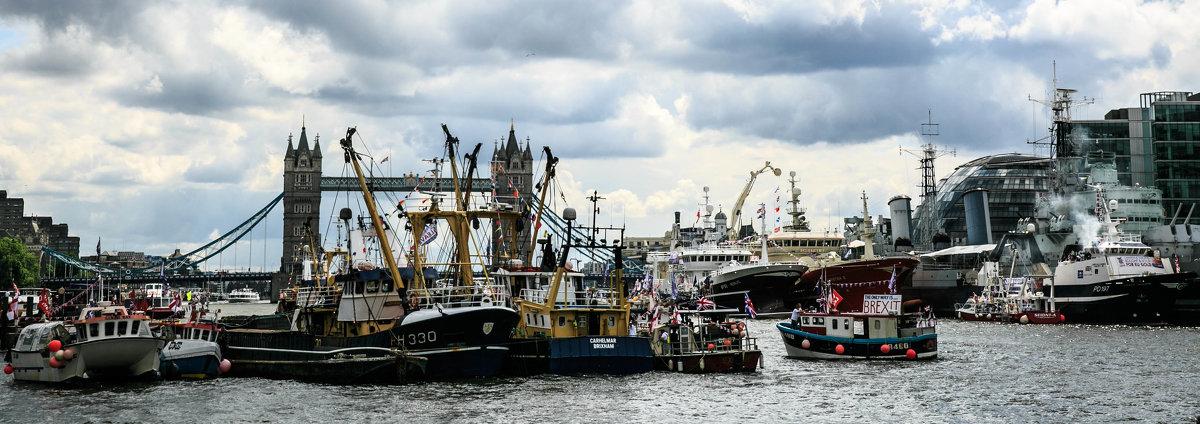 Как  английские рыбаки перекрыли Темзу и протестовали против ЕС - Antonina Burton