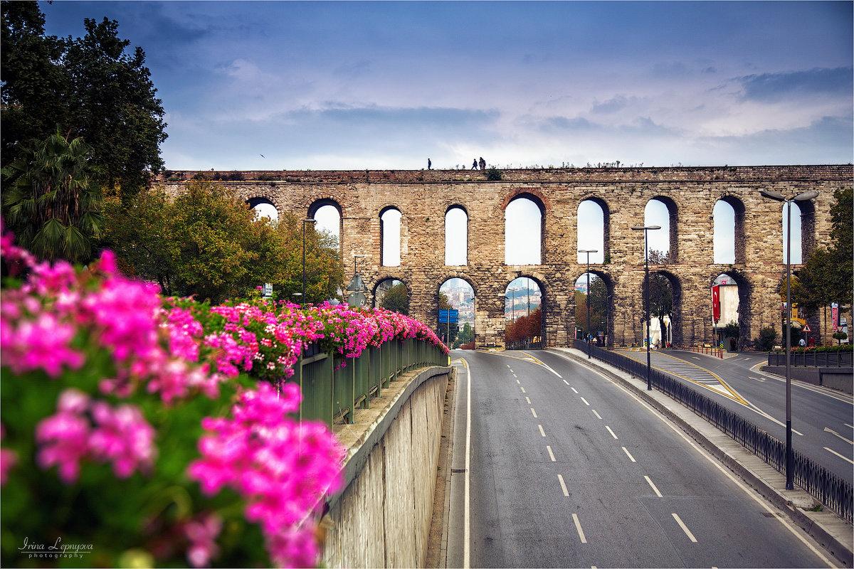 Римский акведук Валента в Стамбуле и проспект Ататюрка - Ирина Лепнёва
