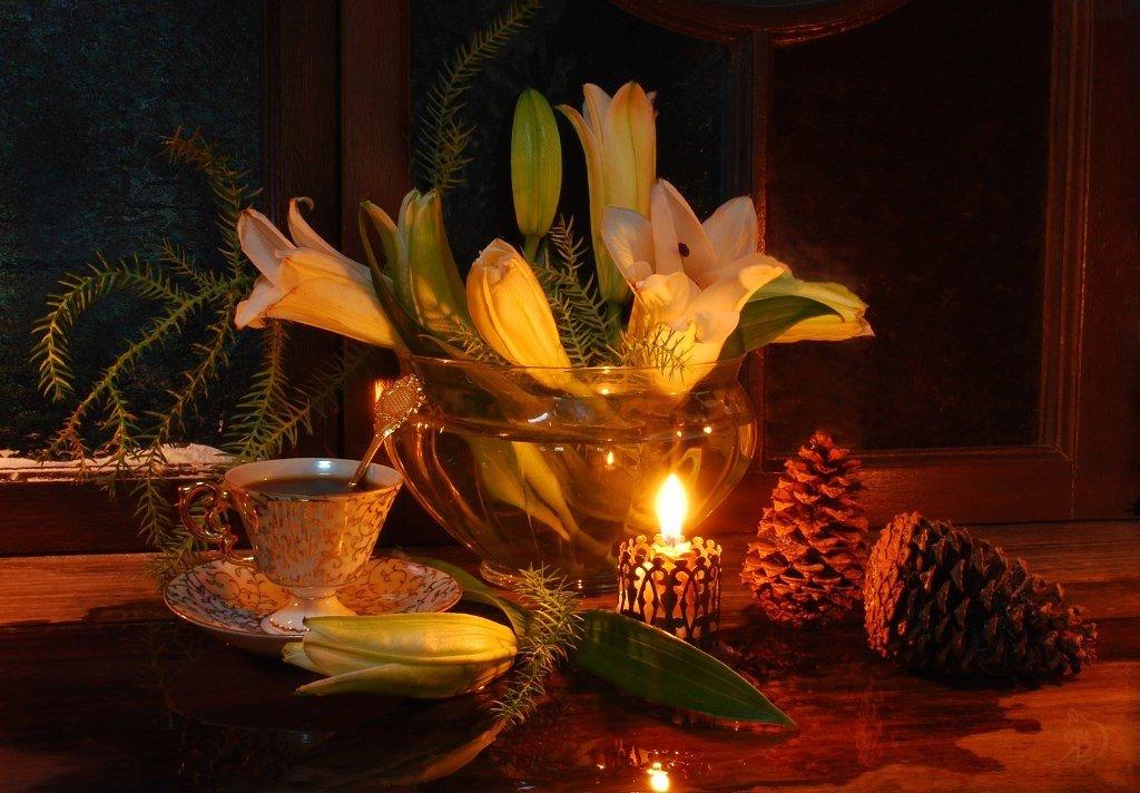 Новогодние лилии. - Лара Гамильтон