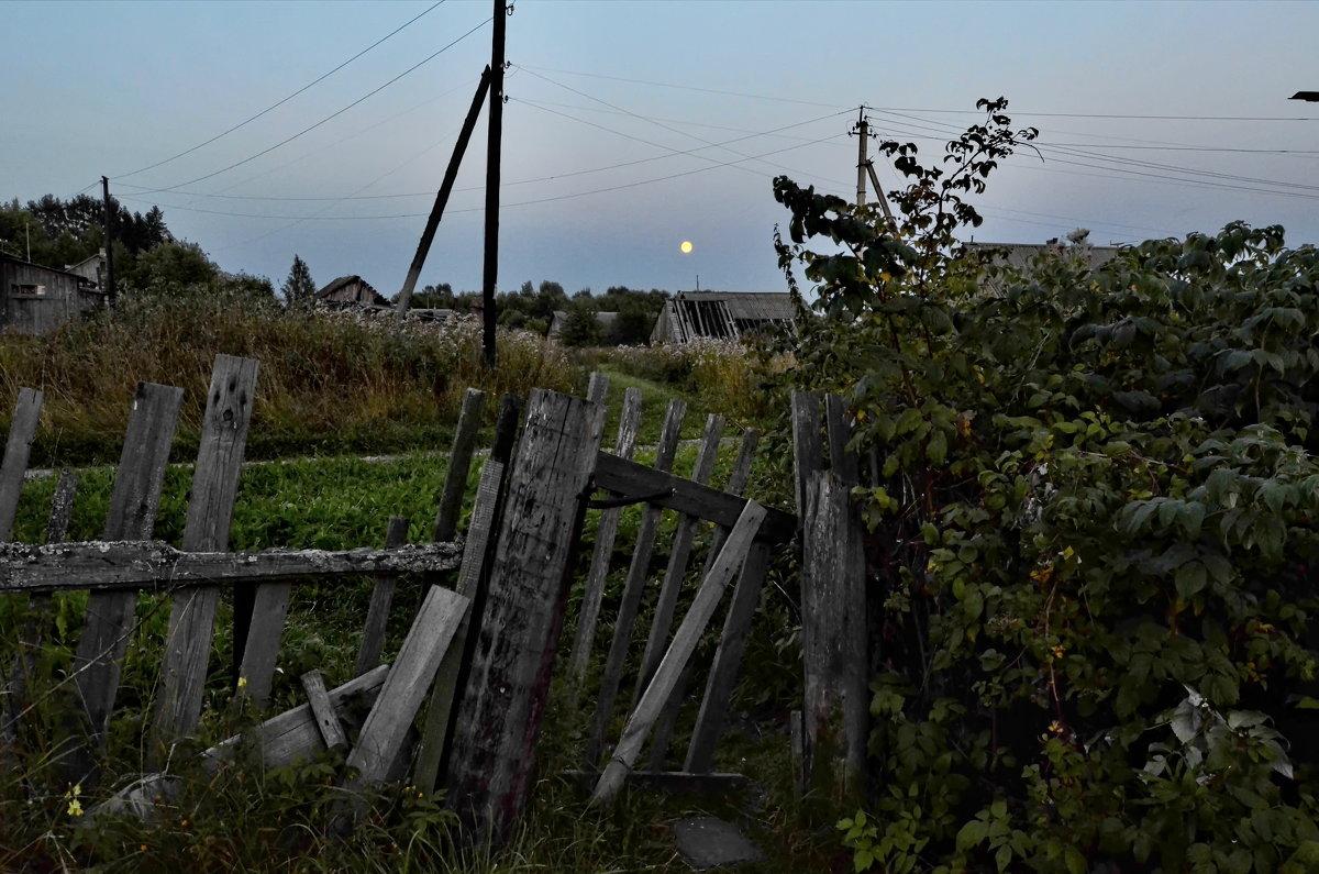 Лунный вечер с крыльца старого дома... - Владимир Ильич Батарин