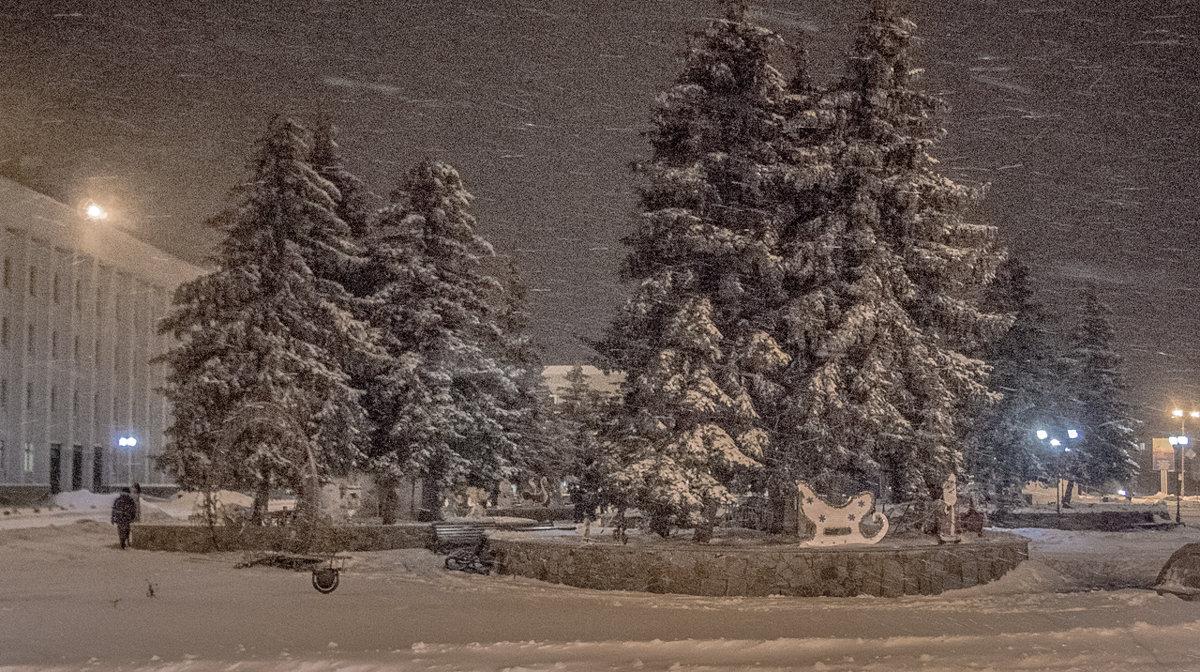 зимний вечер - sergio tachini