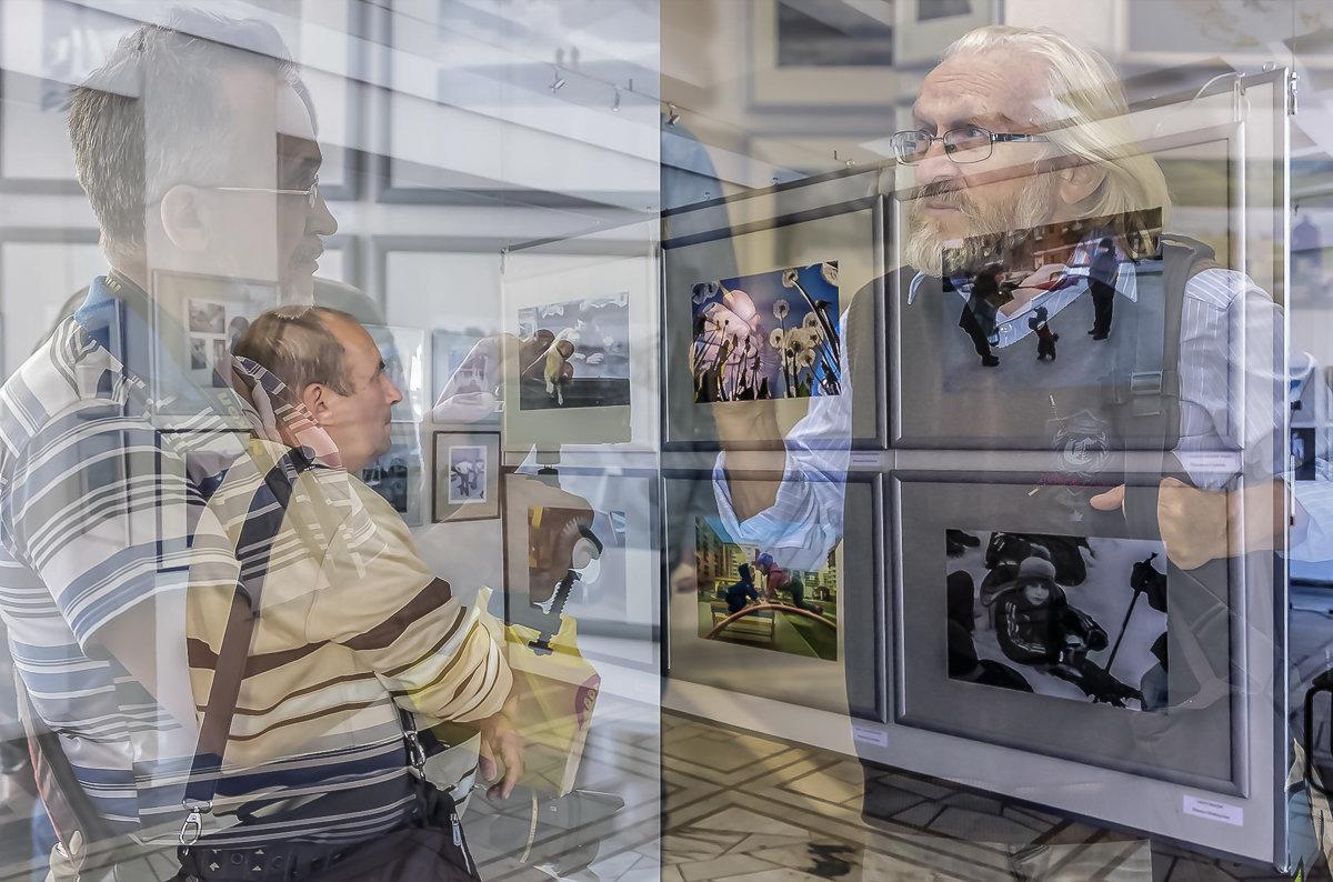 На выставке - Евгений Голубев