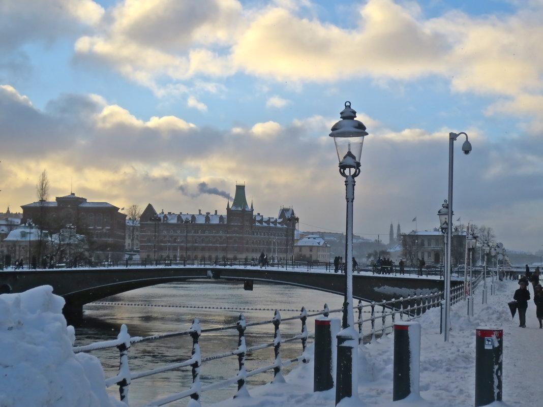 ранний зимний закат - Елена