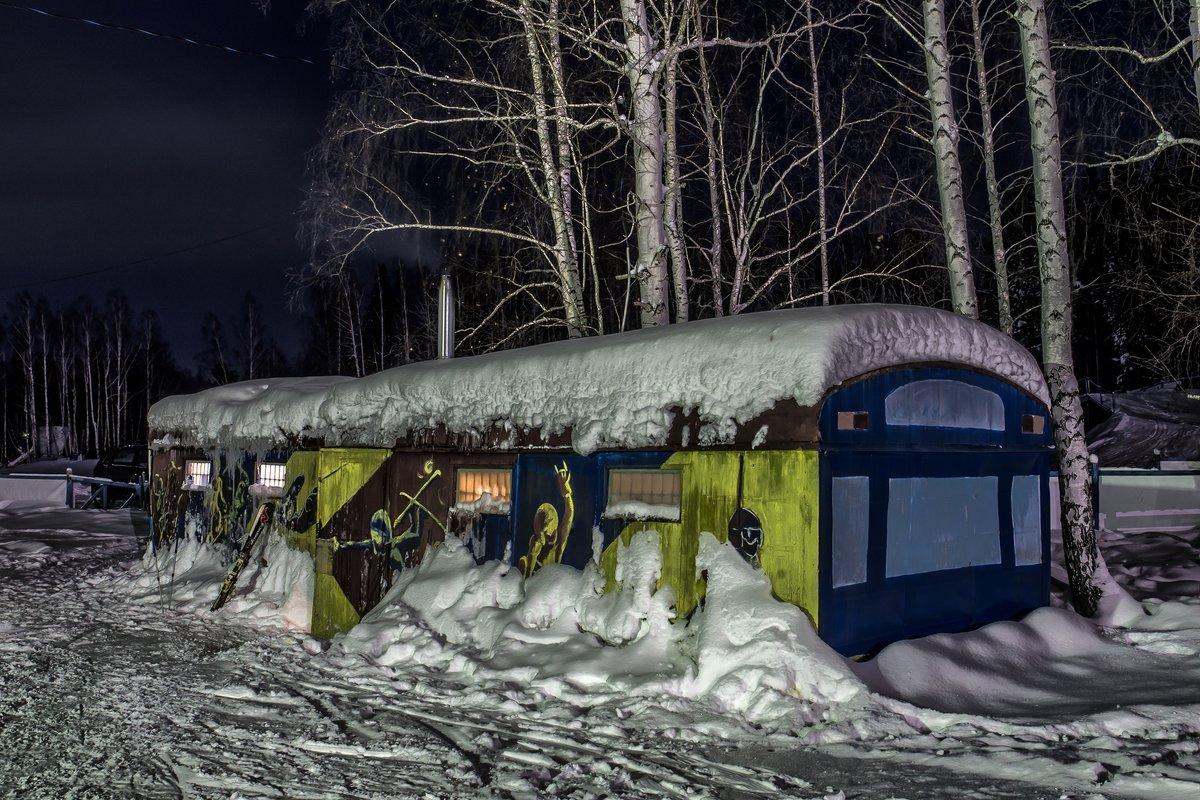 evening at the ski base - Dmitry Ozersky