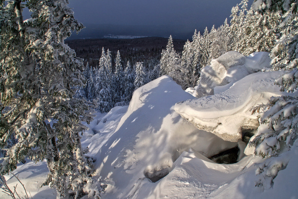 Зимний Уральский пейзаж - Галина Ильясова