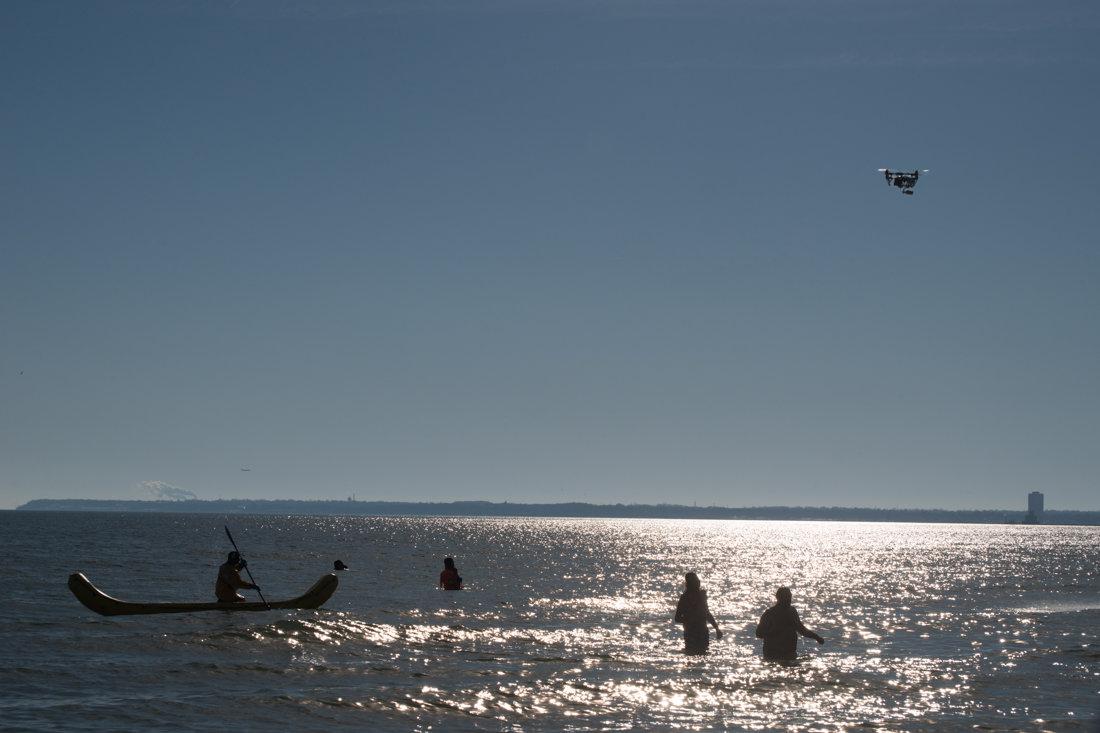 зима в разгаре на озере Мичиган - MVMarina