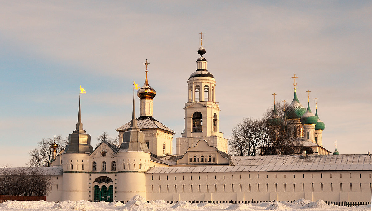 Зимнее утро Толгского монастыря - Николай Белавин