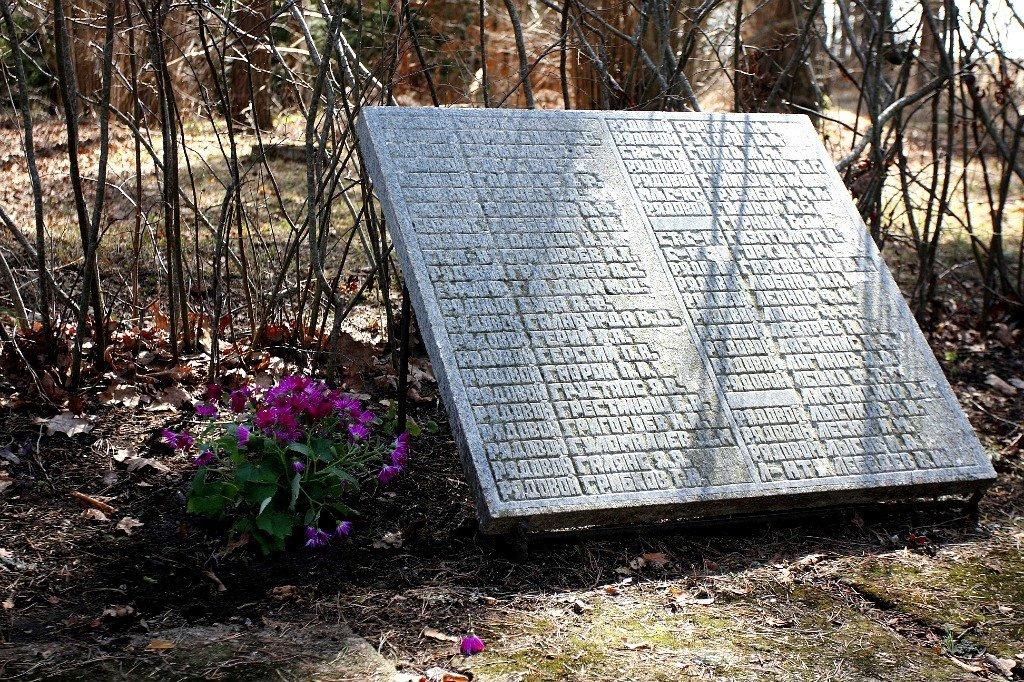 Мемориальная плита на братском кладбище в Латвии - Горкун Ольга Николаевна