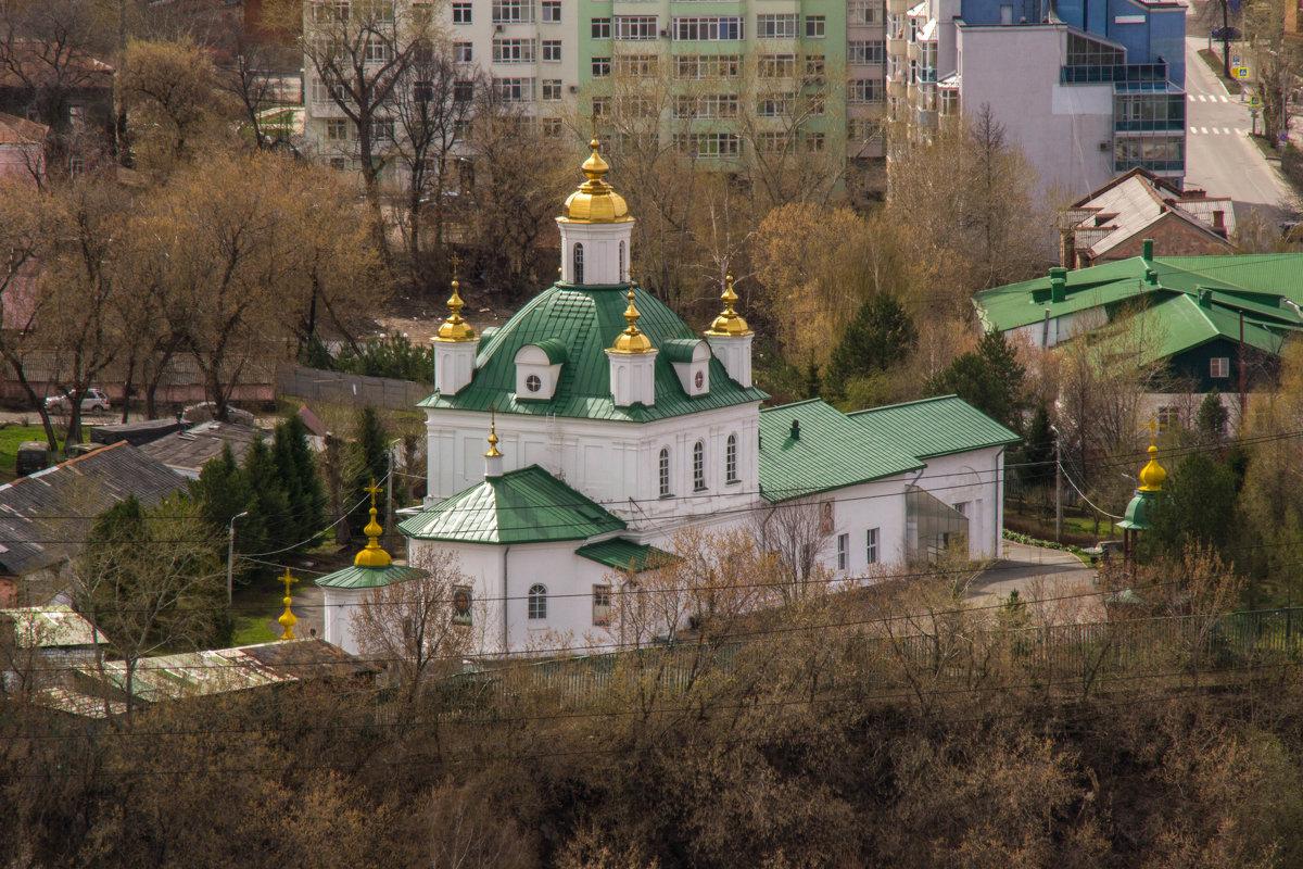 Вид на Петропавловский собор с 14 этажа Пермь. - petyxov петухов